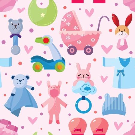pezones: bebé sin fisuras patrón Vectores