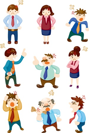 personne en colere: employ� de bureau en col�re Illustration