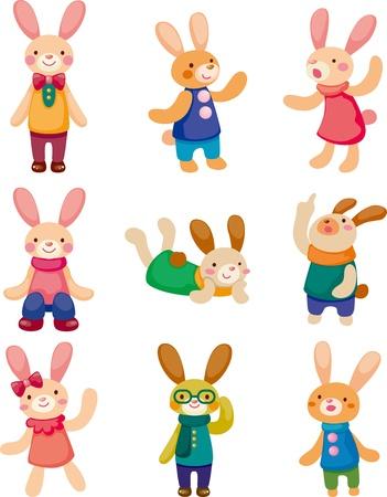 conejo caricatura: conjunto de conejo Vectores