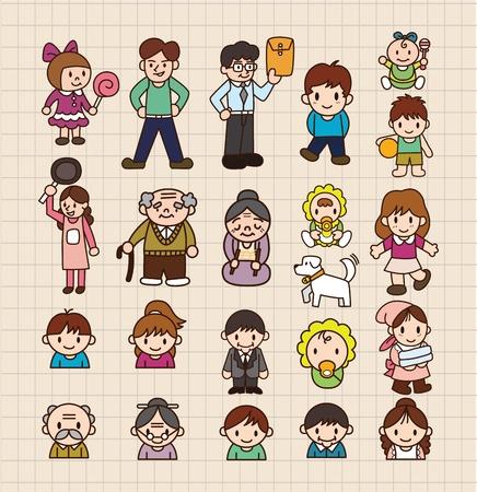 cartoon familie Vector Illustratie