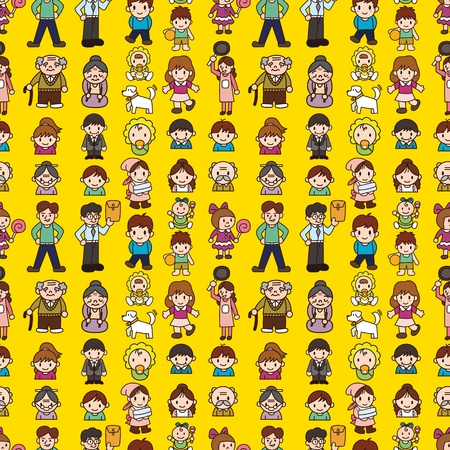 seamless family pattern Stock Vector - 12236557