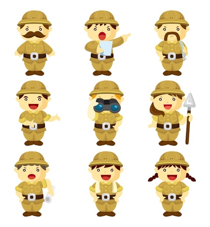 set of Adventurer people Vector
