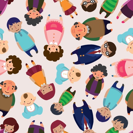 seamless family pattern Vector