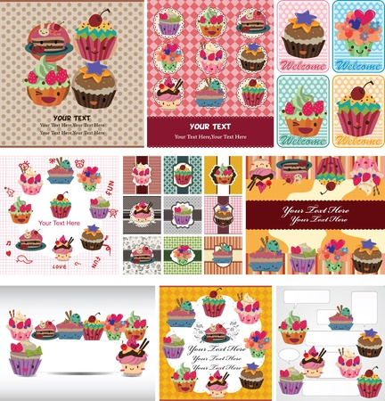 dessert muffin: cake card