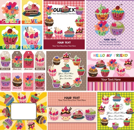 blueberry muffin: cake card