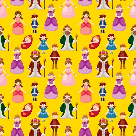 Royal people seamless pattern Vector