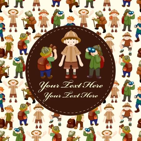adventurer: Adventurer people card Illustration