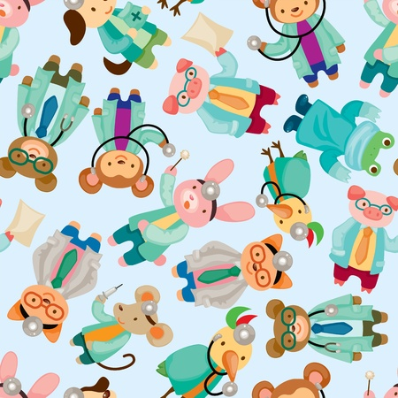 beauty surgery: animal doctor seamless pattern