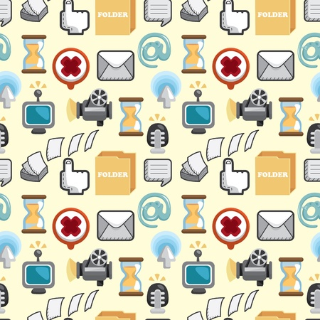Seamless web icons pattern. Vector illustration. Stock Vector - 12236605