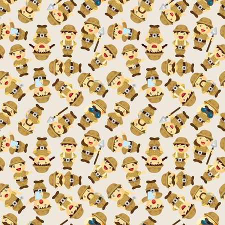 Adventurer people seamless pattern Vector