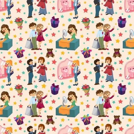 citylife: shopping people seamless pattern