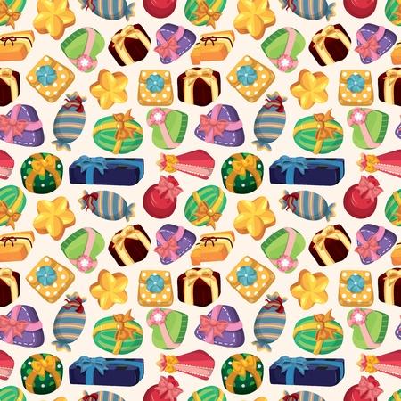 jewelry boxes: seamless Gift pattern  Illustration