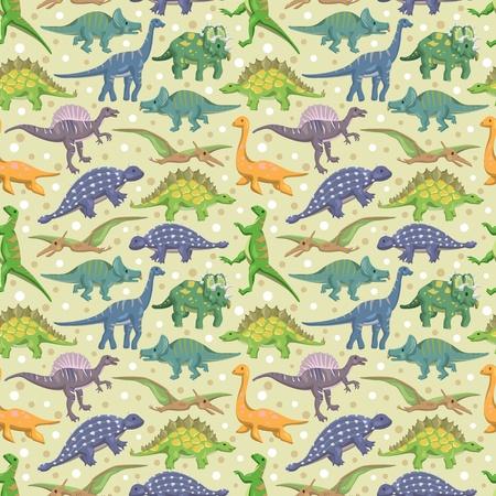 dinosaur: patr�n de los dinosaurios sin fisuras Vectores