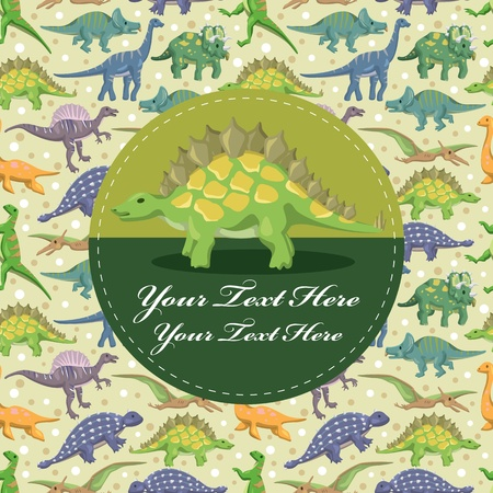 dinosaur card Stock Vector - 12236666