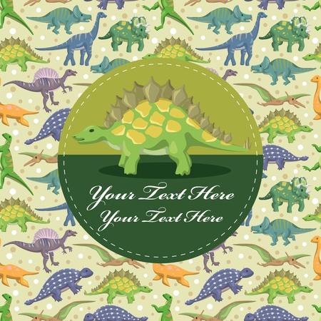 dinosaurio caricatura: tarjeta de dinosaurio