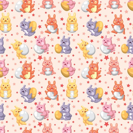 rabbit holiday seamless pattern Vector