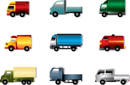 tank car: Truck icon set on white  Illustration