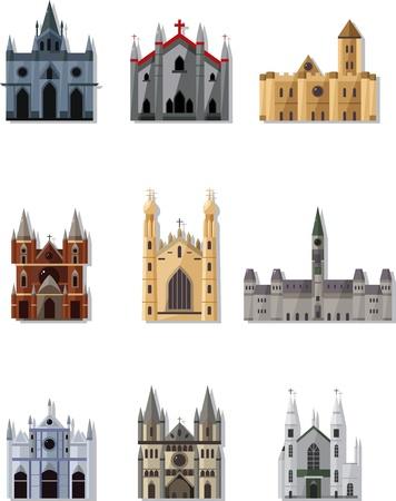 de dibujos animados de hadas castillo de cuento de icono