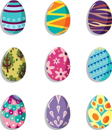 cartoon Easter egg icon  Vector