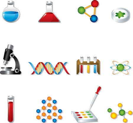 biologia molecular: Iconos Web Science Vectores