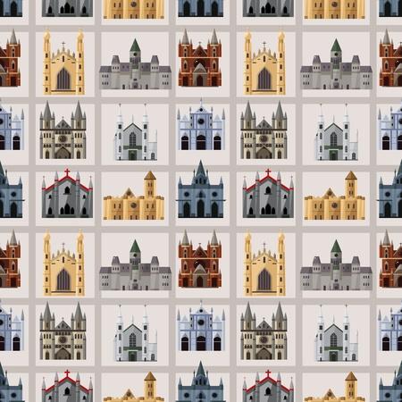 cartoon Fairy tale castle seamless pattern Stock Vector - 12371379