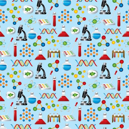 toxicology: science seamless pattern