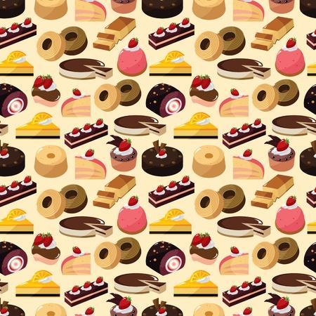 seamless cake pattern  Vector