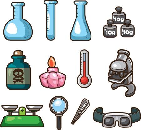 Science Web Icons  Illustration