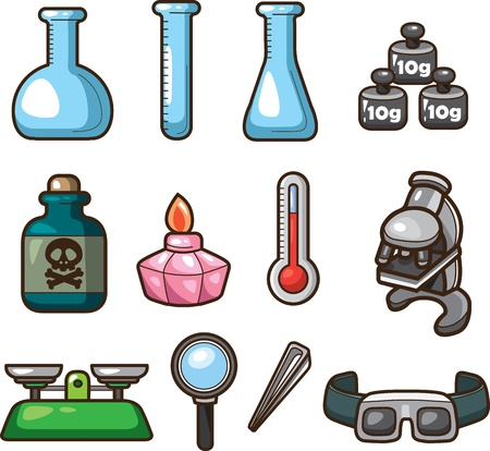 Science Web Icons Stock Vector - 12371405