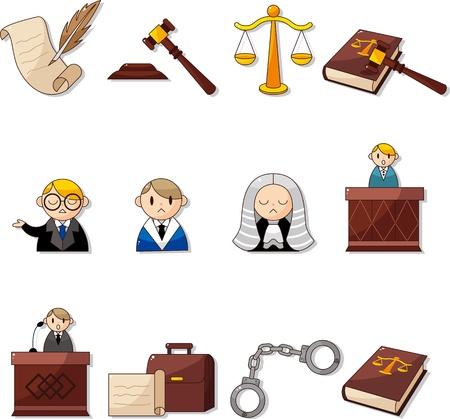 jurado: los iconos de la ley Vectores