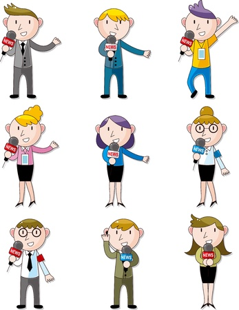 set of reporter people Vector