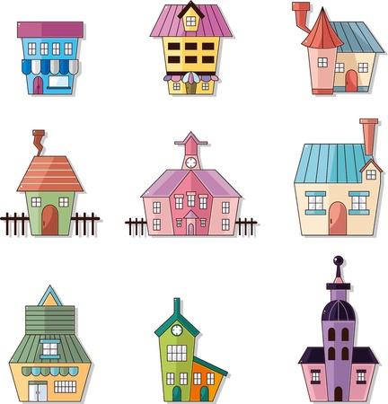 cartoon house icon  Illustration