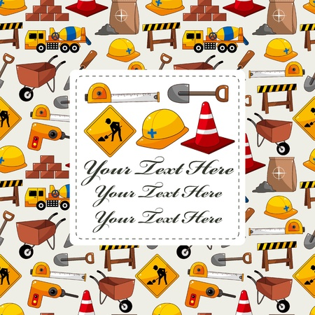 construction object card Stock Vector - 12371453
