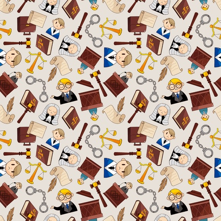 law seamless pattern Vector