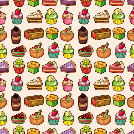 seamless cake pattern Stock Vector - 12371434