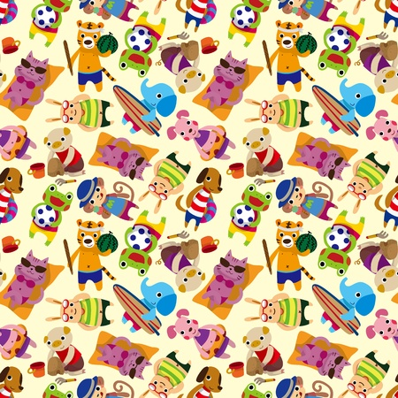 seamless summer animal pattern  Vector