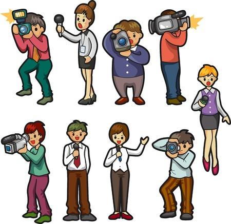 ocupacional: conjunto de personas reportero