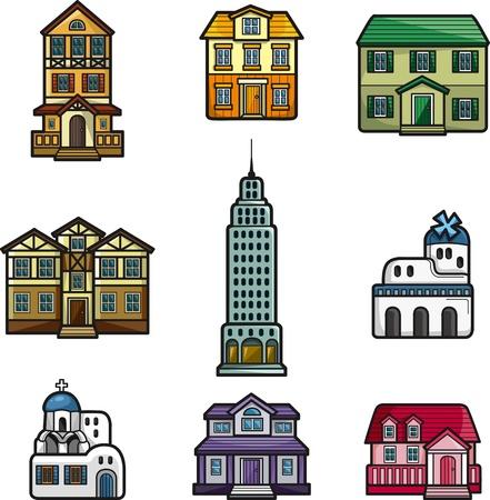 home moving: de dibujos animados icono de la casa Vectores