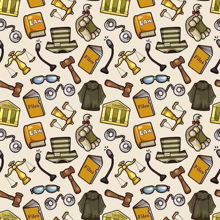 prosecutor: law seamless pattern Illustration