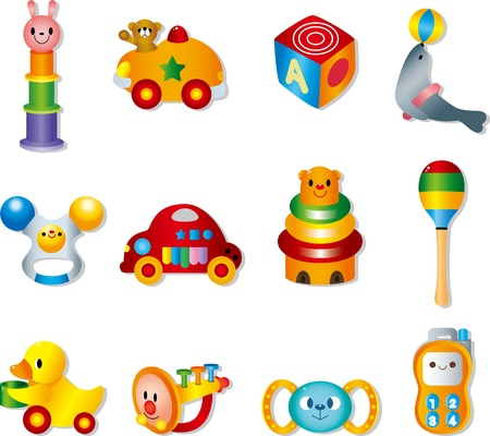 toy icons. Baby toys  Vector