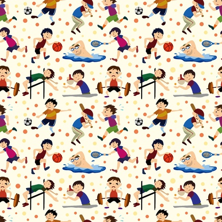 sport player seamless pattern Vector