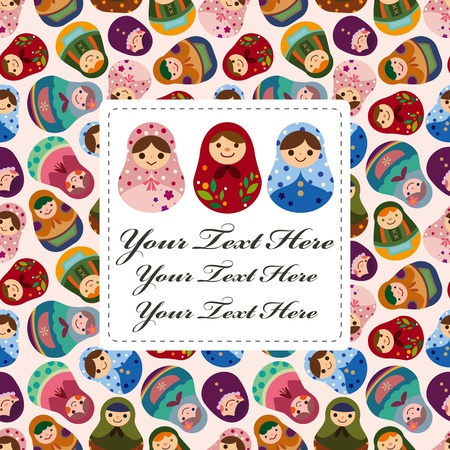Russian doll card Stock Vector - 12488027