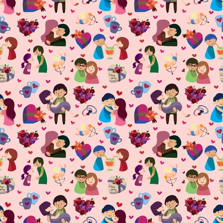 seamless Valentine's Day pattern Stock Vector - 12488063