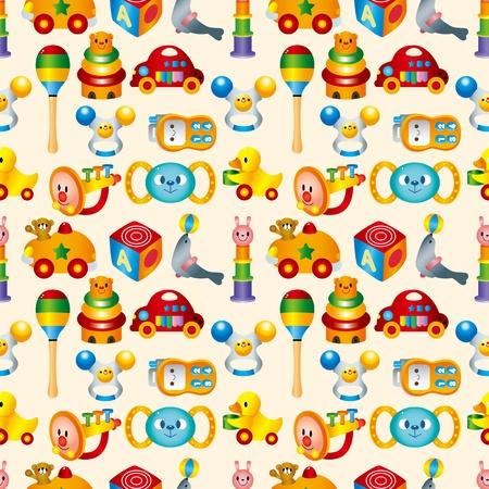 kid toy seamless pattern Vector Illustration