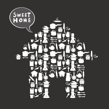 home sweet home: sweet home card