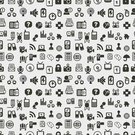 Seamless web icons pattern. Vector illustration. Stock Vector - 12488073