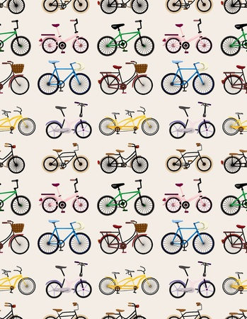 bicycle seat: seamless bicycle pattern