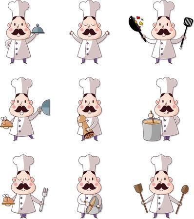 panettiere: cartone animato cuoco icon Vettoriali