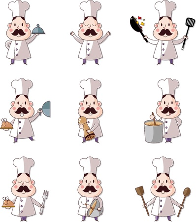 prepare: cartoon chef icon Illustration