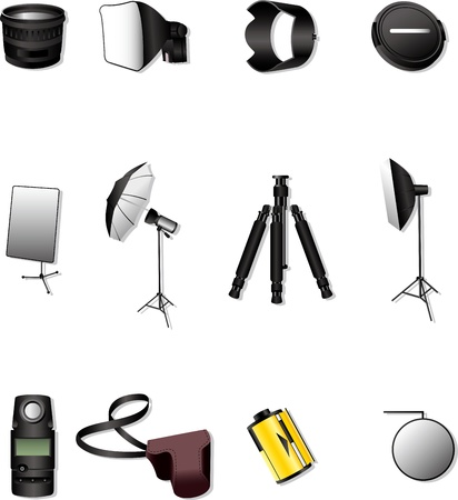 light reflex: Photographic equipment Illustration